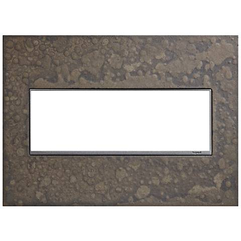 Hubbardton Forge Burnished Steel 3-Gang Wall Plate