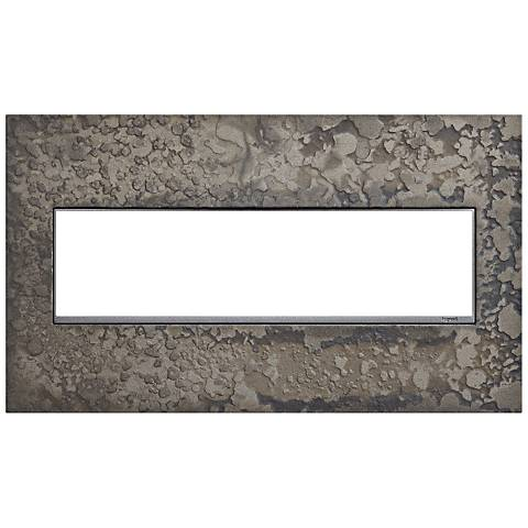 Hubbardton Forge Burnished Steel 4-Gang Wall Plate