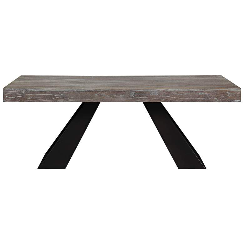 """Westwood 78 3/4"""" Wide Washed Wood Modern Dining Table"""