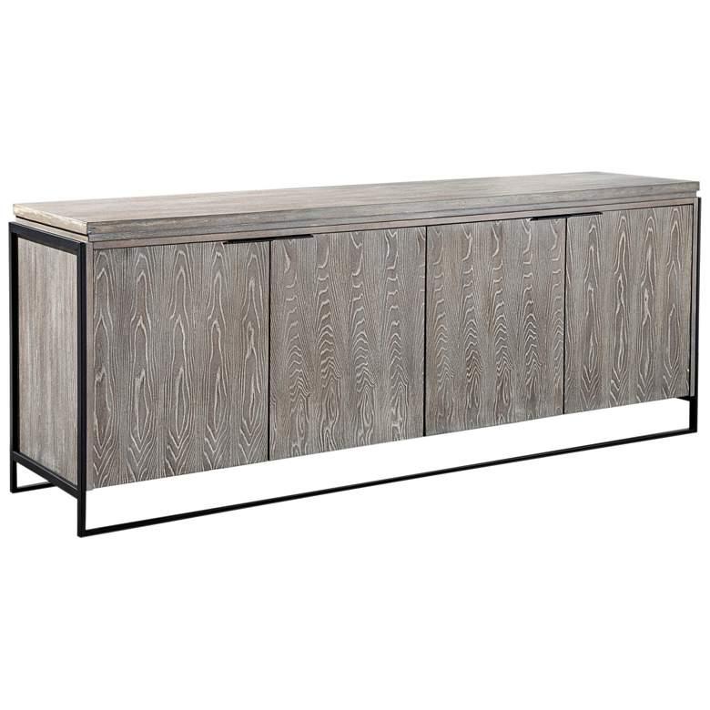 "Westwood 81 1/2"" Wide Washed Wood 4-Door Modern Buffet"
