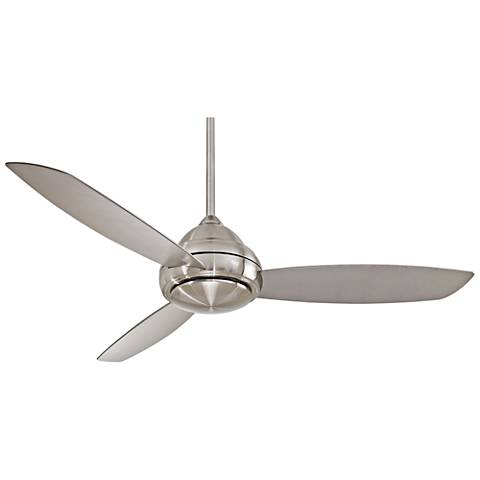 "58"" Concept I Brushed Nickel Wet-Rated LED Ceiling Fan"