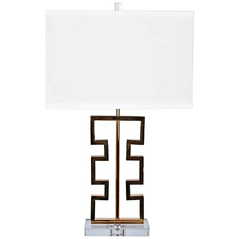 Crestview Collection Azteca French Gold Metal Table Lamp