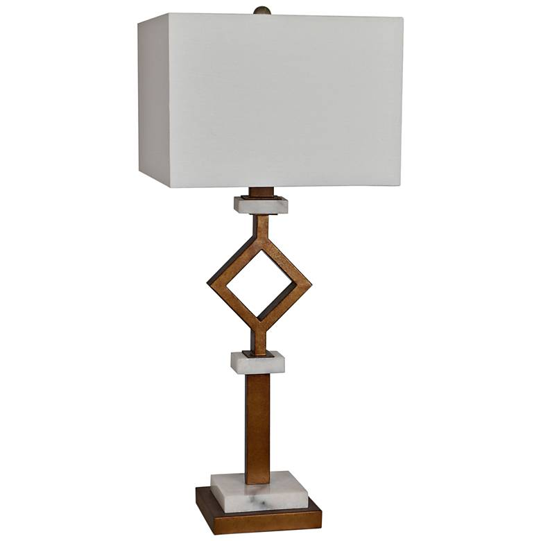 Crestview Collection Marseilles Gold Leaf Table Lamp