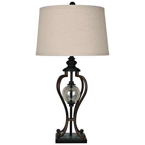 Crestview Collection Whitby Oil Rubbed Bronze Table Lamp