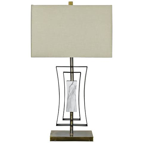 Crestview Collection Sloan Antique Brass Table Lamp