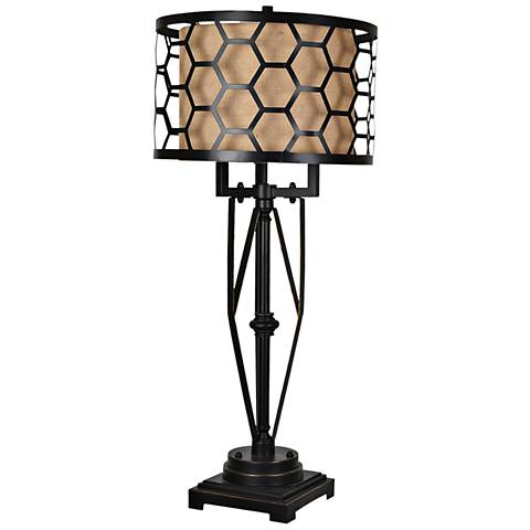 Crestview Collection Flynn Oil Bronze Metal Table Lamp