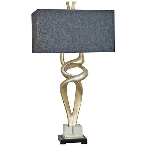Crestview Collection Coventry Silver Leaf Table Lamp