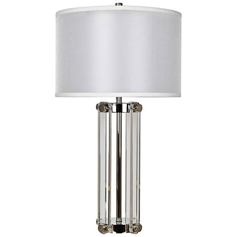 Crestview Collection Glass Structure Chrome Metal Table Lamp