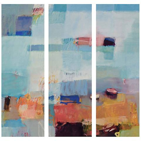 """Surround - Wave 3-Piece 27"""" High Indoor-Outdoor Wall Art Set"""