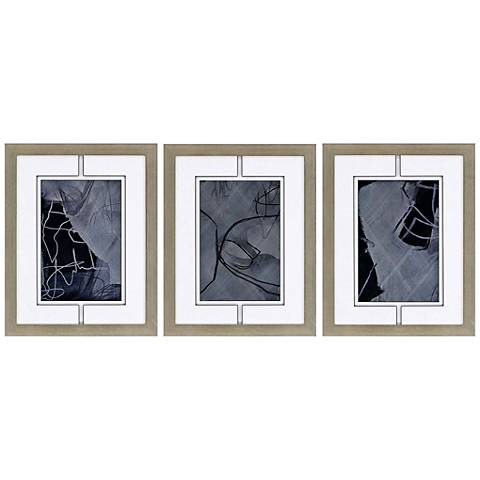 "Dream III 3-Piece 24"" High Framed Giclee Wall Art Set"