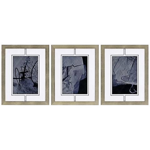 """Dream IV 3-Piece 24"""" High Framed Giclee Wall Art Set"""