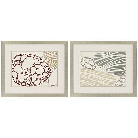 "Transparency I 2-Piece 31"" Wide Framed Wall Art Set"