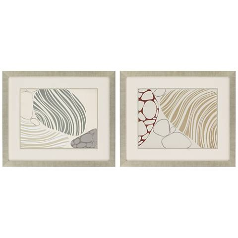 "Transparency II 2-Piece 31"" Wide Framed Wall Art Set"