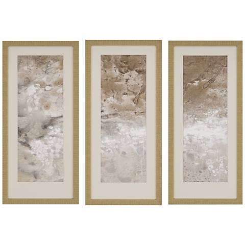 "Earthen II 3-Piece 33"" High Framed Wall Art Set"