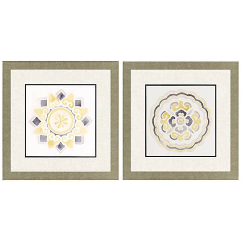 "Modern Medallions I 2-Piece 26"" Square Framed Wall Art Set"