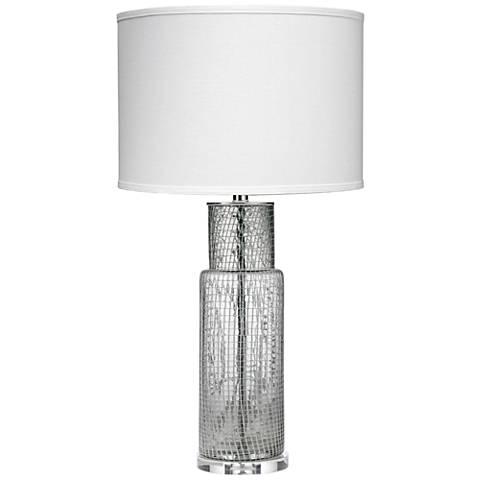 Jamie Young Atwater Clear Netted Glass Cylinder Table Lamp