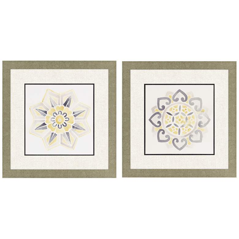 """Modern Medallions II 2-Piece 26"""" Square Framed Wall"""