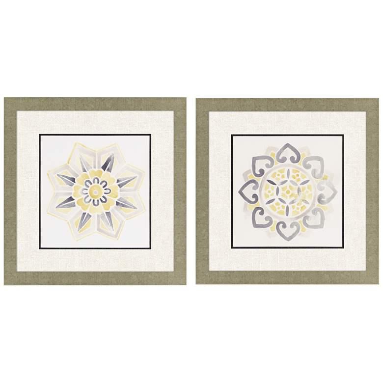 "Modern Medallions II 2-Piece 26"" Square Framed Wall Art Set"