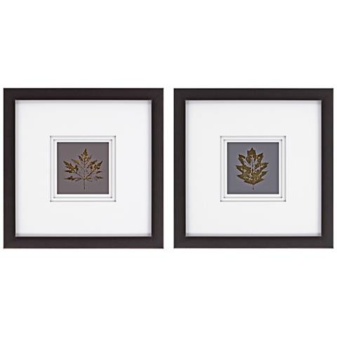 "Leaves I 2-Piece 23"" Square Framed Wall Art Set"