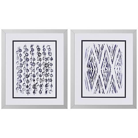 "Indigo Batik I 2-Piece 30"" High Framed Wall Art Set"