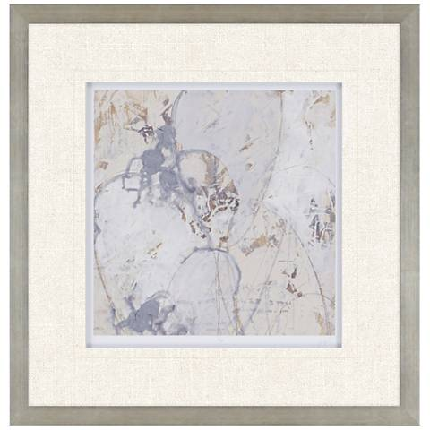 "Impasto Gesture II 31"" Square Framed Wall Art"