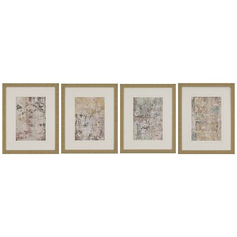 "Vestige II 4-Piece 21"" High Framed Wall Art Set"