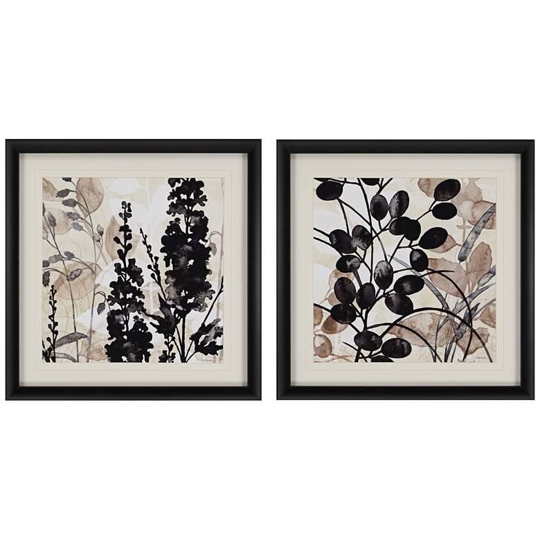 "Natural Botanical II 2-Piece 26"" Square Framed Wall Art Set"