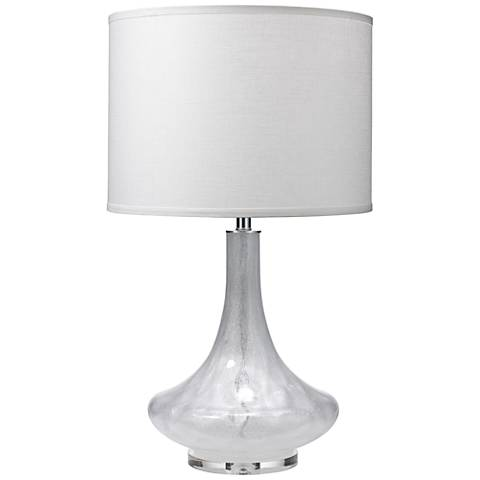 Jamie Young Latour Clear Shimmer Bubble Glass Table Lamp