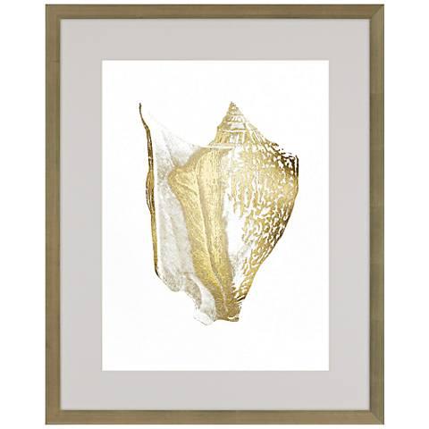 """Gold Foil Shell III 41"""" High Framed Wall Art"""