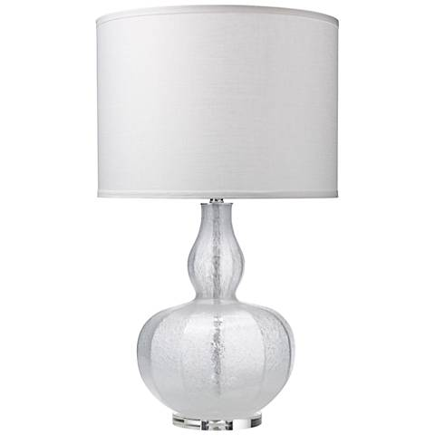 Jamie Young Maxine Clear Shimmer Glass Table Lamp