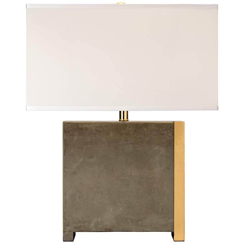 Jamie Young Raymond Gray Faux Shagreen Table Lamp