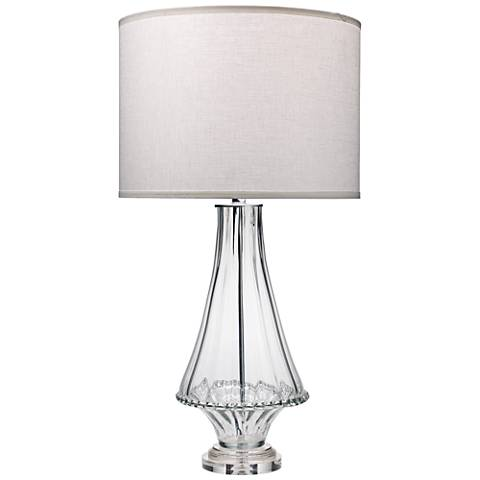 Jamie Young Simone Clear Pinched Glass Table Lamp