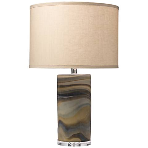 Jamie Young Terrene Multicolor Swirl Glass Table Lamp