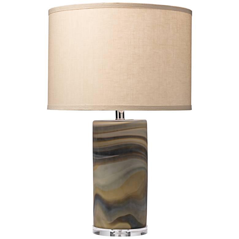 Jamie Young Terrene Multicolor Swirl Glass Table Lamp