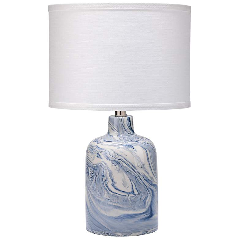 "Jamie Young Atmosphere 19""H Blue-White Swirl Ceramic Lamp"