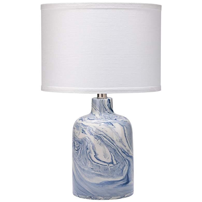 "Jamie Young Atmosphere 19""H Blue-White Swirl Ceramic Lamp"