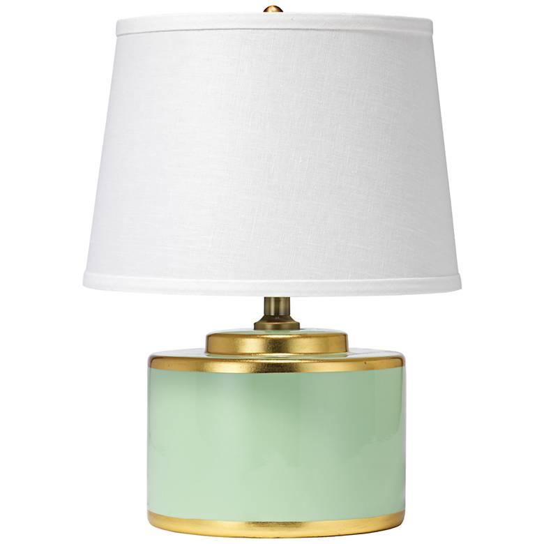 Jamie Young Basin Seafoam Green 2-Tier Ceramic Table Lamp