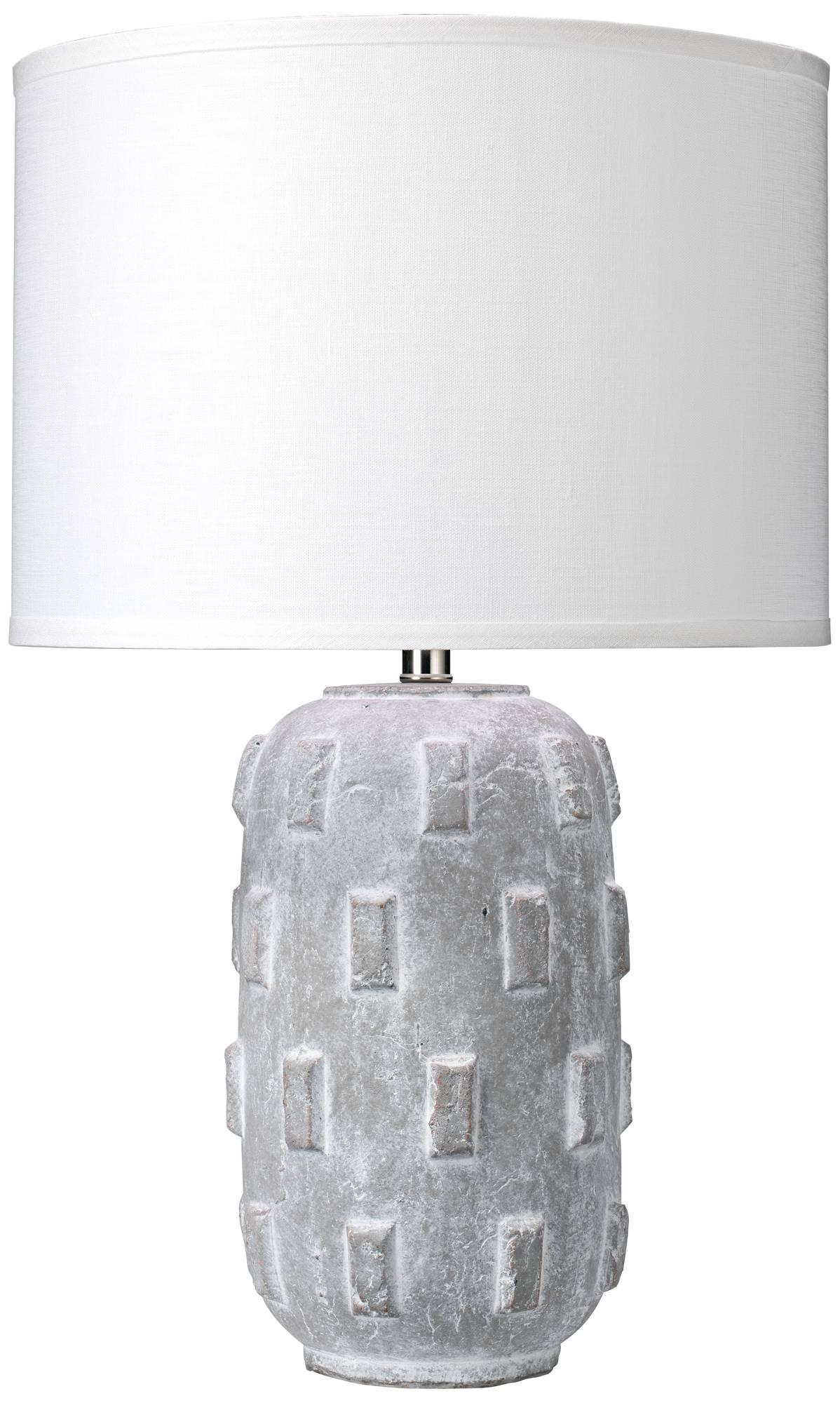 Jamie young boulder gray concrete capsule ceramic table lamp