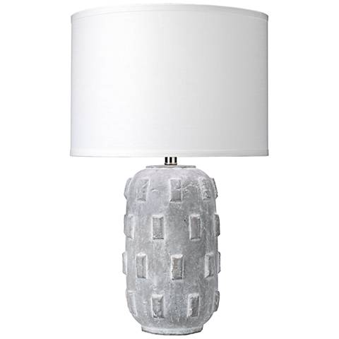 Jamie young boulder gray concrete capsule ceramic table lamp