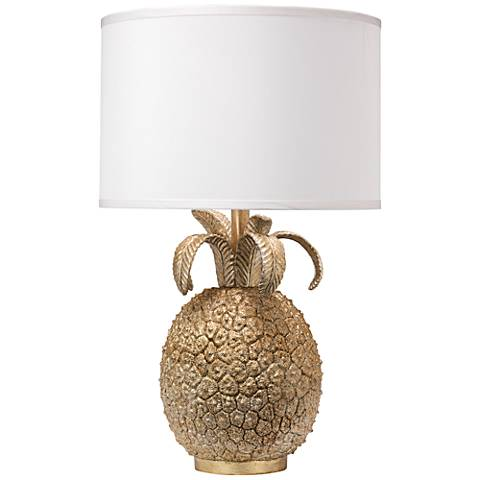 Jamie Young Small Pineapple Champagne Table Lamp