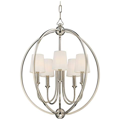 "Crystorama Sylvan 22 1/2"" Wide Nickel 5-Light Chandelier"