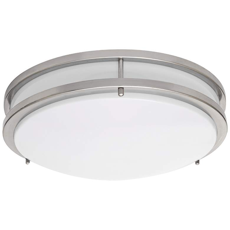 "Zaire Brushed Nickel 10"" Wide Flushmount LED Ceiling Light"