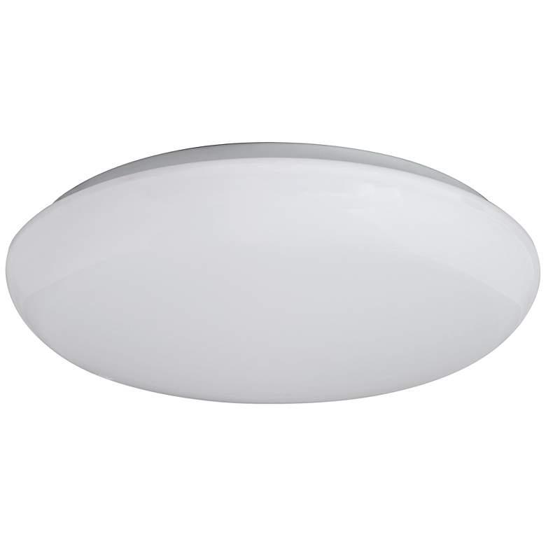 "Levine Shallow Flushmount 11"" Wide White LED Ceiling Light"