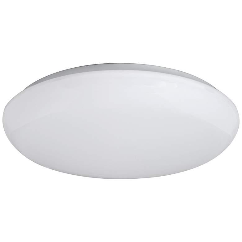 "Levine Shallow Flushmount 19"" Wide White LED Ceiling Light"