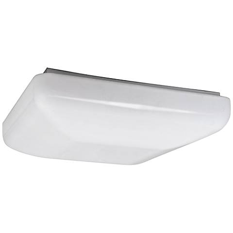 "Quadratum Flushmount 12 1/2"" Wide White LED Ceiling Light"