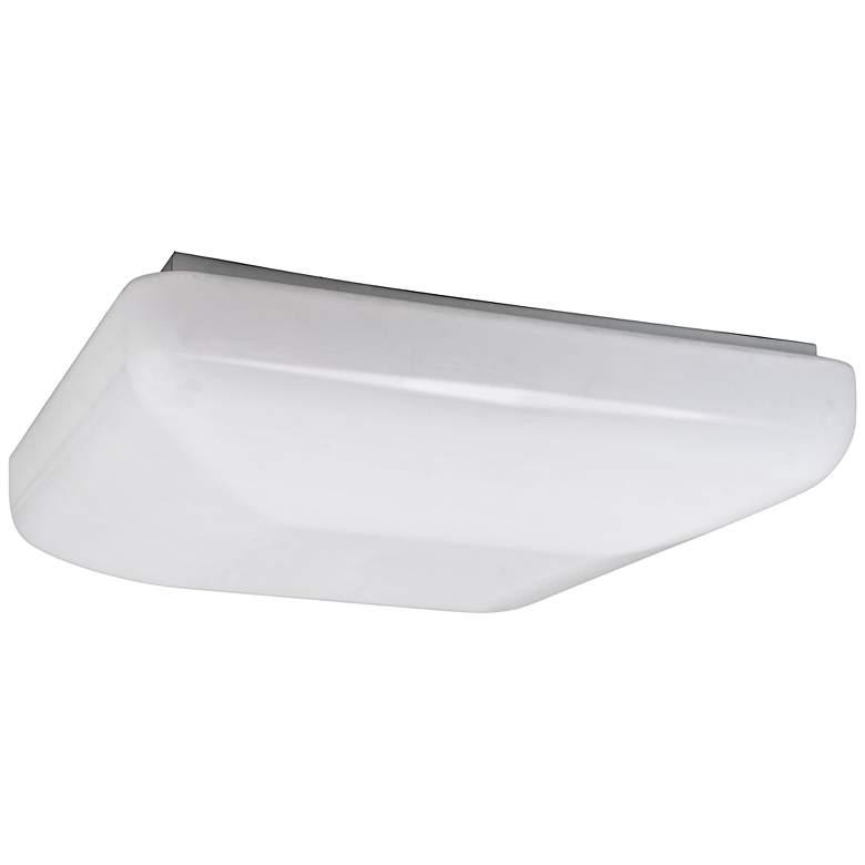 "Quadratum Flushmount 14 1/2"" Wide White LED Ceiling Light"
