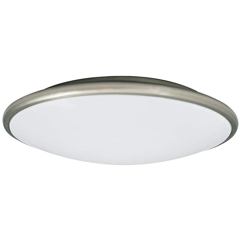 "Partia Flushmount 13"" Wide Nickel LED Ceiling Light"