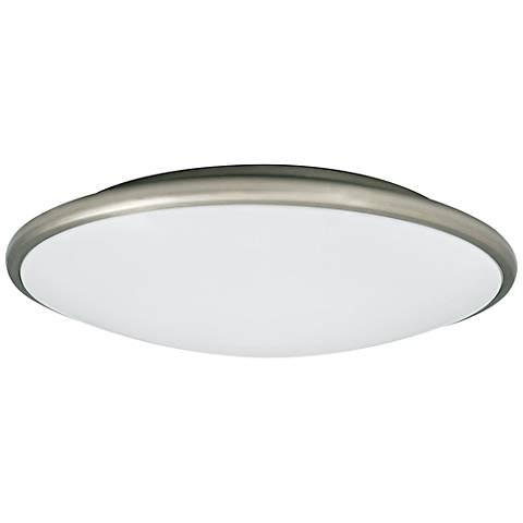 Partia flushmount 13 wide nickel led ceiling light