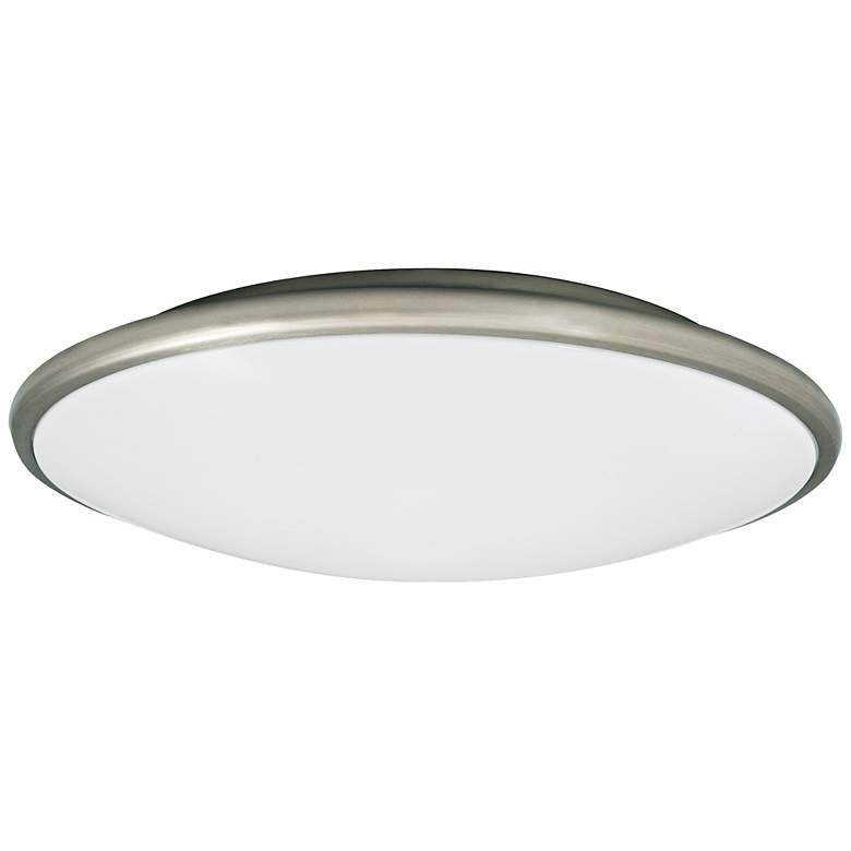 "Partia Flushmount 17"" Wide Nickel LED Ceiling Light"