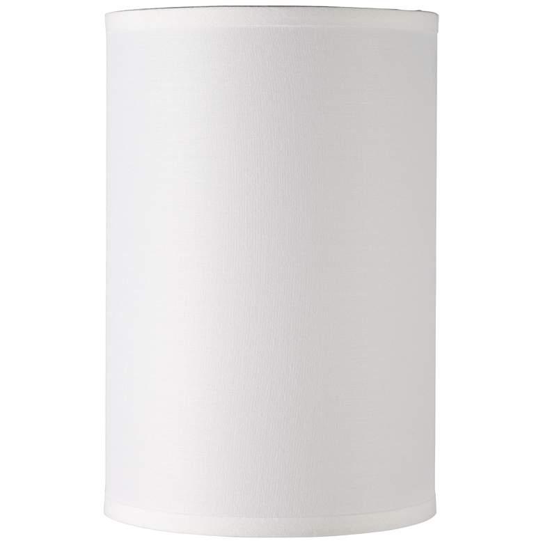 1C094 - White Sandstone Linen Drum Lamp Shade